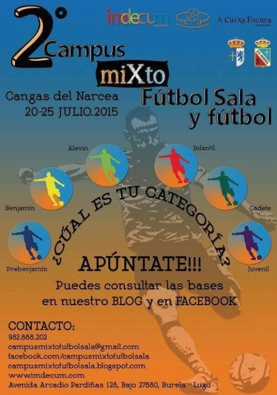 Cartel Campus Mixto Futbol Sala